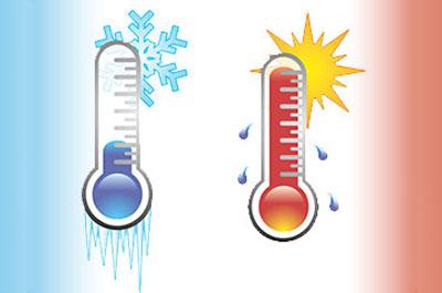 Como se dice calor y frio en ingles